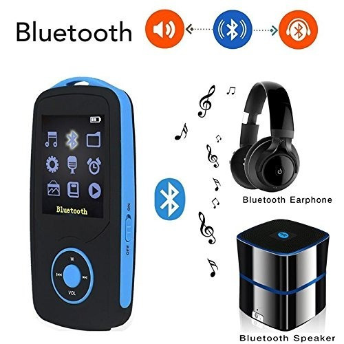 deefec hifi 16gb reproductor de música bluetooth mp3 con rad
