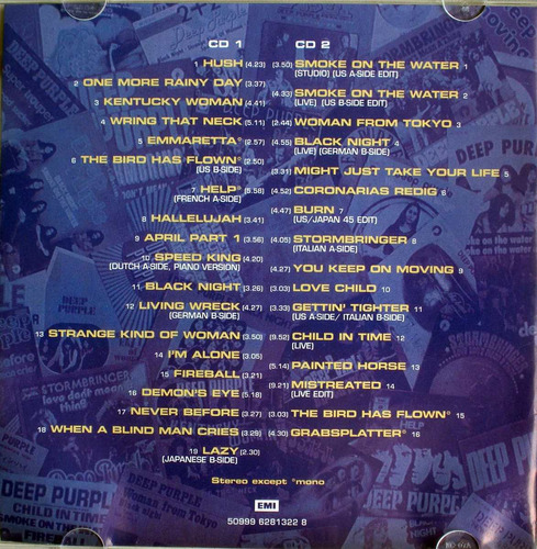 deep purple - singles & ep - anthology 68- 80 - 2 cdspromo