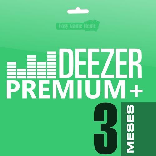 deezer premium familiar 3 meses