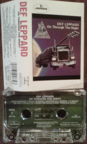 def leppard on through the night cassette importado