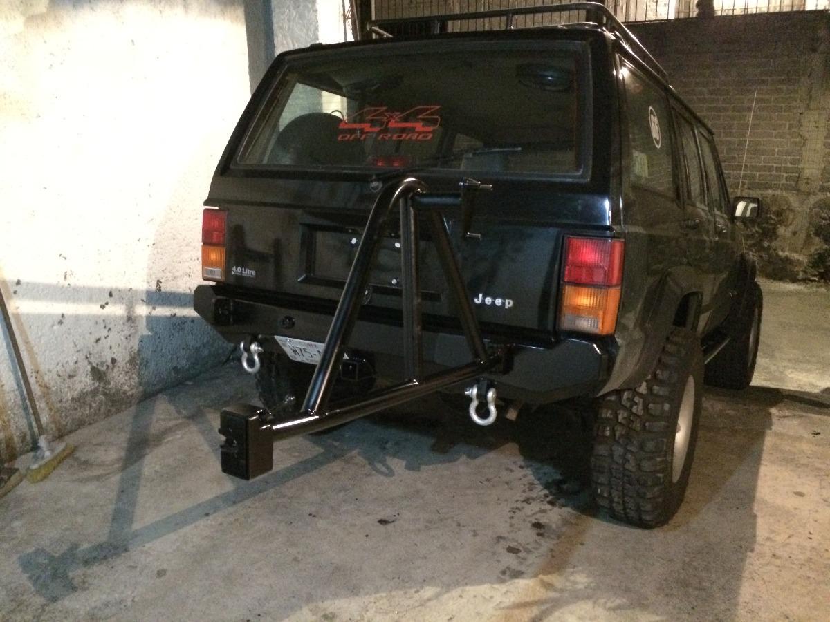 Defensa Con Porta-llantas Para Jeep Cherokee Xj, Zj ...