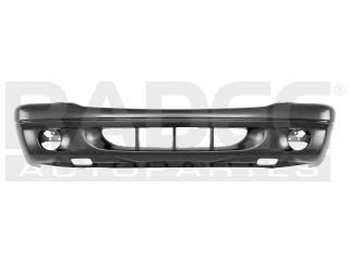 defensa delantera dodge durango 2001-2002-2003 lisa c/hoyo