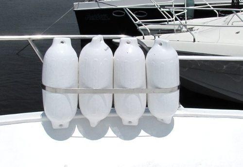 defensa nautica g3 51x15 cm branca inflável barco lancha 6un