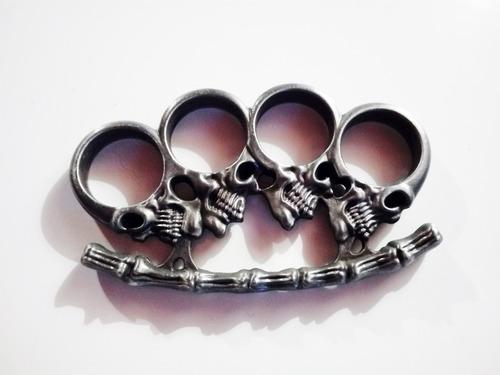 defensa personal boxer de acero con craneos