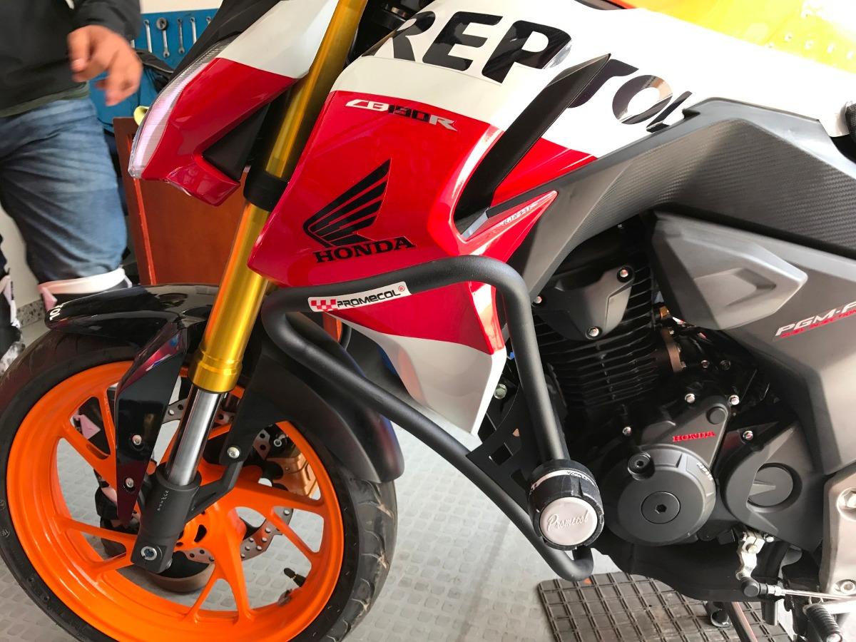 Defensa Sliders Con Alerones Moto Honda Cb190r Promecol