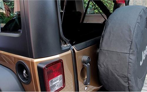 deflector de aire jeep wrangler jk 07-18 delantero trasero