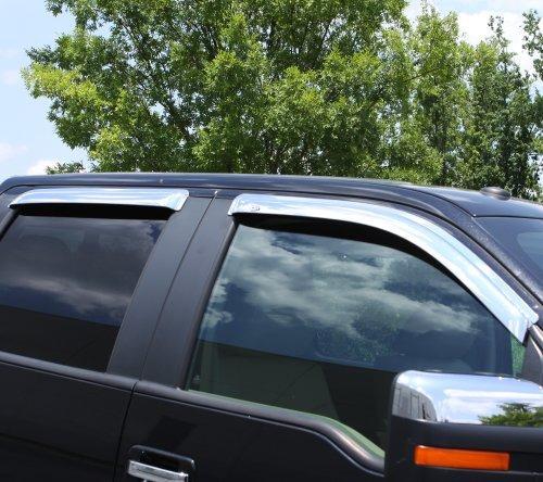 deflector ventana auto ventshade 684443 cromo ventvisor, 4 p