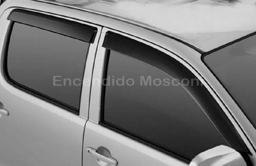 deflectores de ventanas volkswagen amarok hilux  4 unidades