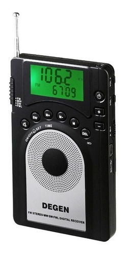 degen de15 ultra-thin radio am/fm onda corta dsp