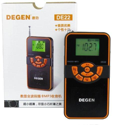 degen de22 3en1 radio recargable onda corta am fm altavoz po