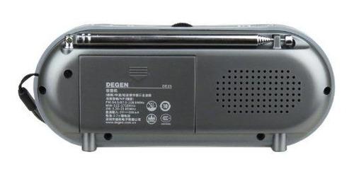 degen de23 3en1 radio recargable amfm de onda corta con alta