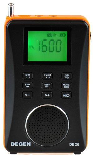 degen de26 3en1 recargable amfm radio de onda corta altavoz