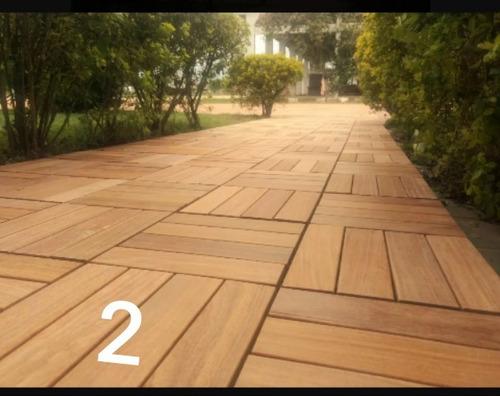 deks de madeira maciça
