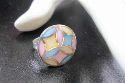 del caribe anillo de plata con nacares  (madre perla)