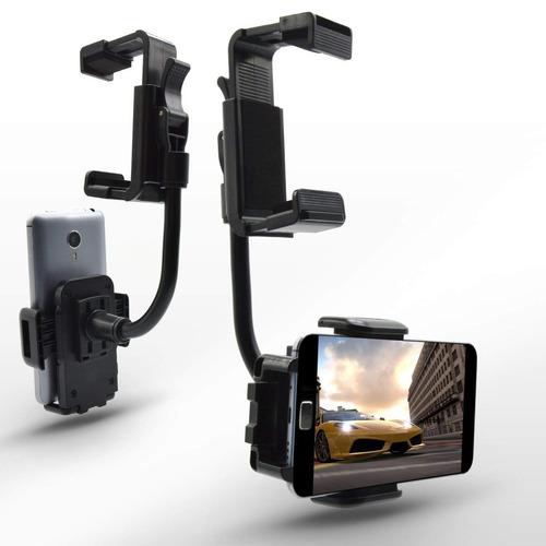 del móvil monte estar de pie coche vista trasera espejo mon