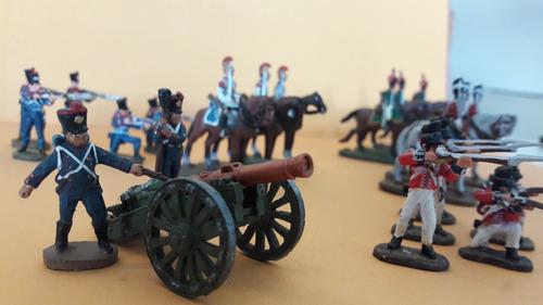 del prado waterloo relive set 27 soldados de plomo