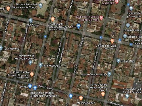 del valle: terreno en inmejorable ubicación sobre calle amores.