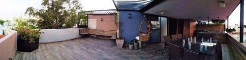 del valle.- vendo depto tipo townhouse. roof garden privado