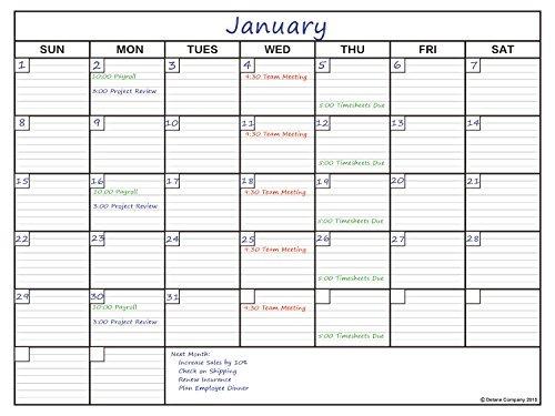 Calendario Grande.Delane Calendario Grande Planificador De Borrado En Seco