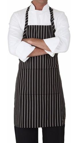 delantal cocina  bengalina rayado rayadac/bolsillo y hebilla