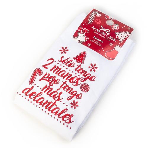 delantal cocina navidad bordado