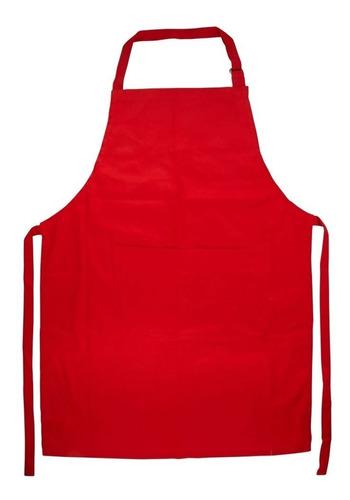 delantal de cocina con pechera, bolsillo y hebilla regulable