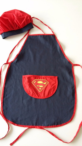 delantal de cocina infantil con gorro o bandana