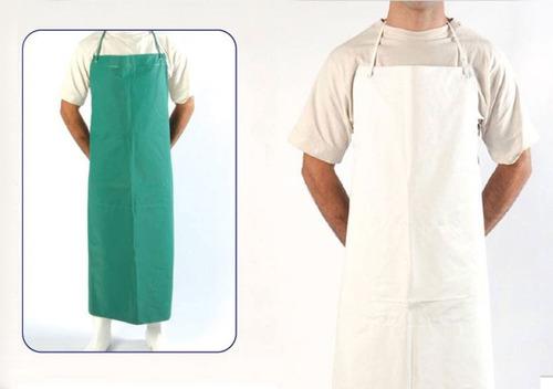 delantal de pvc blanco verde 90x120cm lavadero cocina