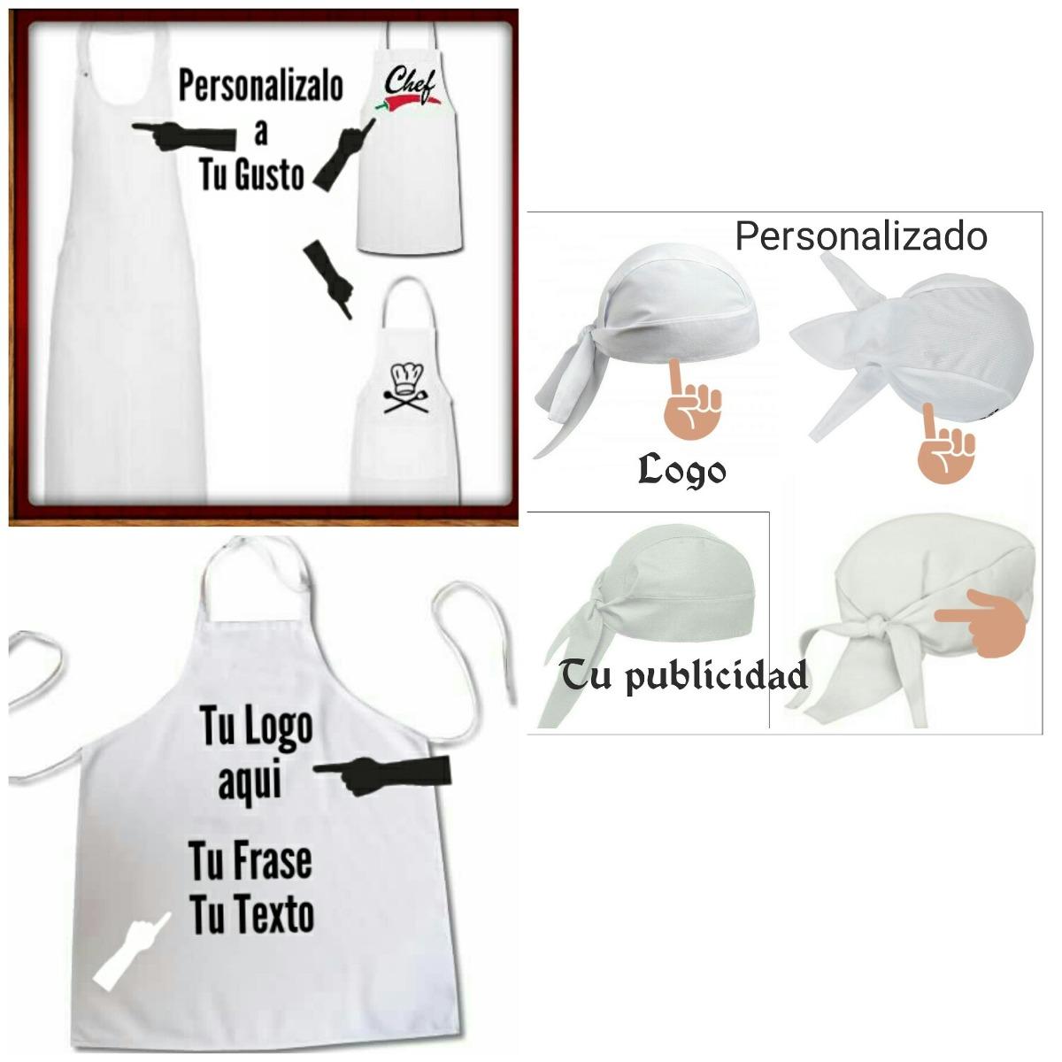 Delantal Delantal Personalizados Y Gorros De Chef. - Bs. 650,00 en ...