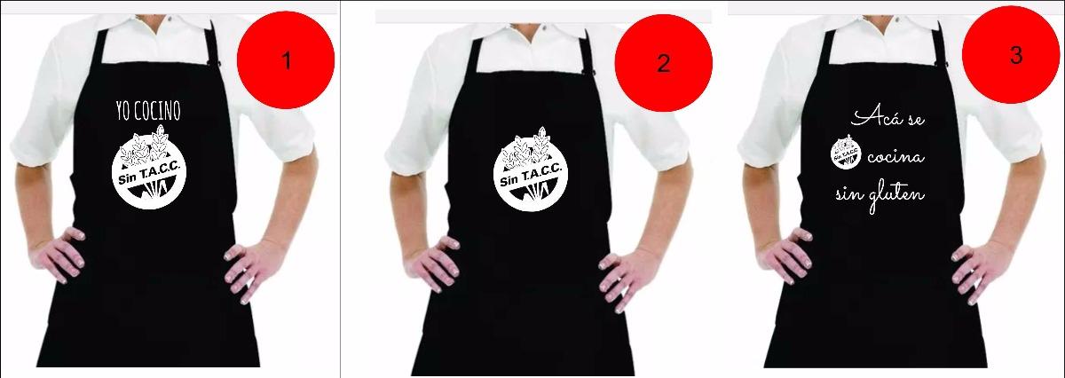 955696873 Delantal Diseño Estampados Con Vinilo Sin Tacc Sin Gluten