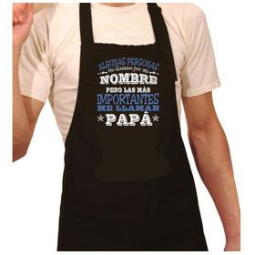 Delantal Estampado Regalo Dia Del Padre Papá Chef Cocinero