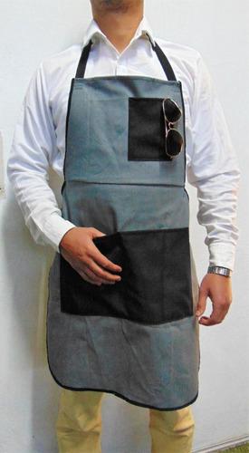 delantal gabardina c/bolsa y cintas ajustables envio gratis