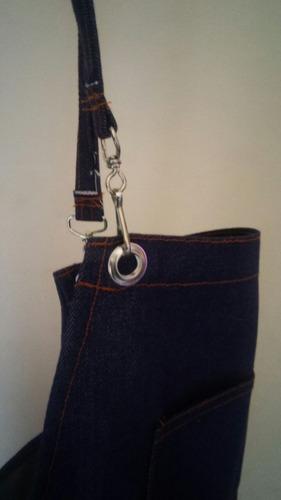 delantal jean para parrilla o  cocina   cerca mdeo shopping