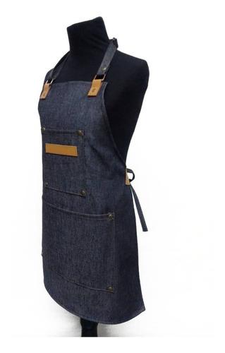 delantal jean y cuero unisex infantil niñes cocina juegos