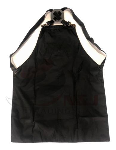 delantal mandil capa barbero cuero sintético elegante negro