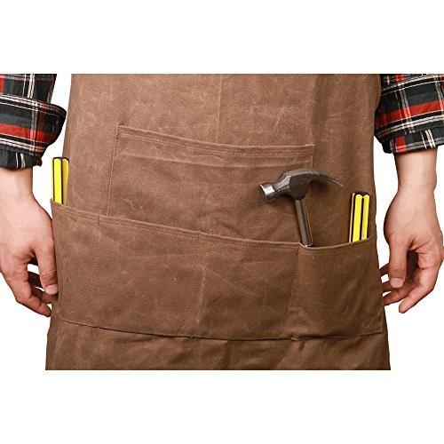 delantales de herramientas de lona encerada delantal de tall