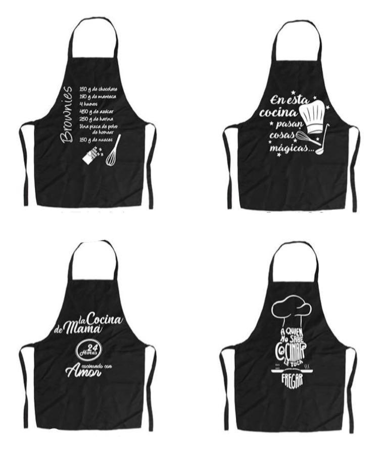 Delantales Estampados Frases Diseños Exclusivos Home Cocina