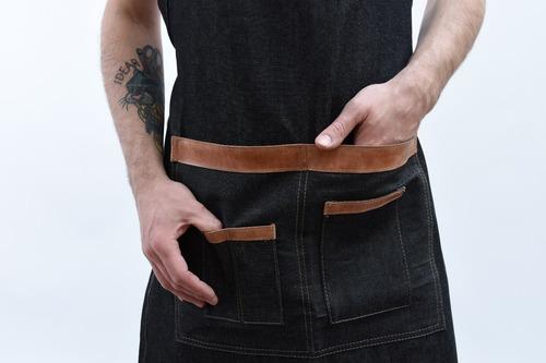 delantales veo jean  y cuero diseño berlin factura a - b