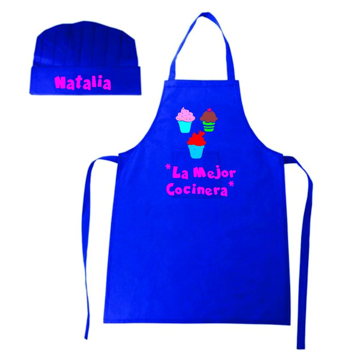 Delantales y gorros personalizados para ni as y ni os - Delantales y gorros de cocina para ninos ...