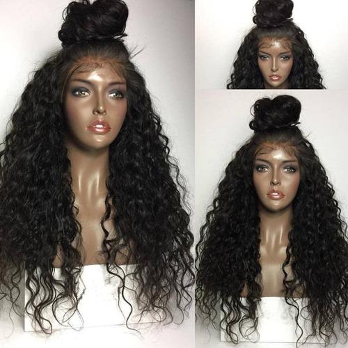 delantera del cordón pelucas pelo sintético color natural