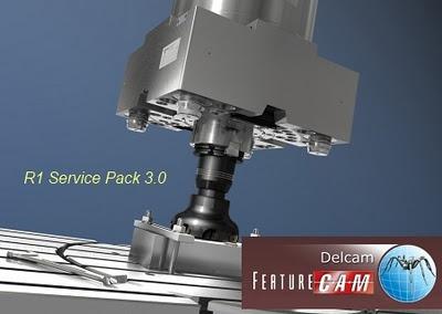 delcam featurecam 2012 sp3 32-64 bits diseño cad cam español
