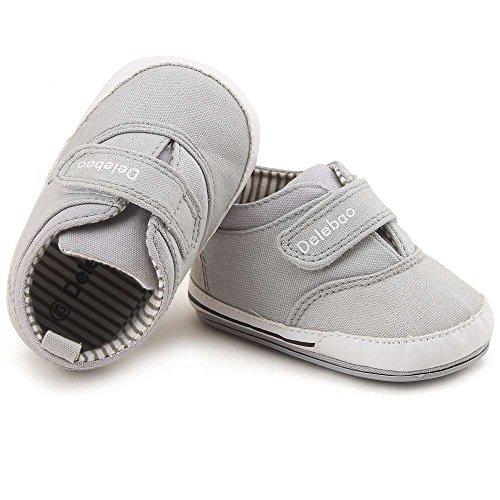 76c60252301c0 Delebao Bebé Antideslizante Suela De Goma Lona Cuna Zapatos ...