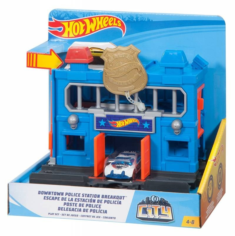 Hot Wheels City Downtown Police Station Breakout Playset Mattel