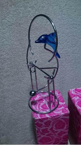 delfin con movimiento pendular decoracion (2 unidades)