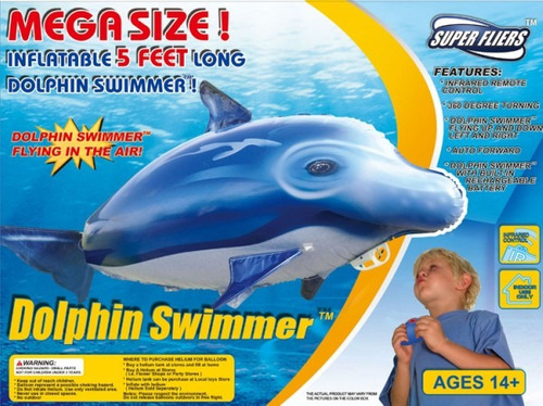 delfin inflable volador control remoto dolphin swimmer