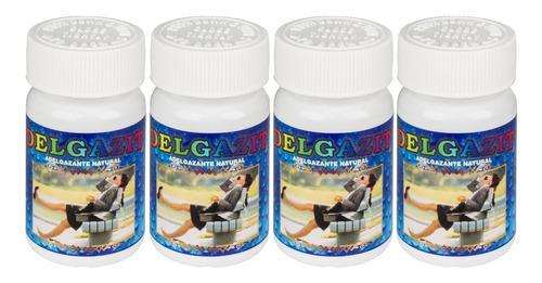 delgazit adelgaza + quema + reduce + natural / 4 unidades