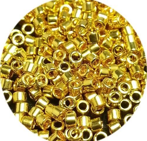 delica miyuki dorado db031 gold 24k silver 1 tubo 7.2 gramos