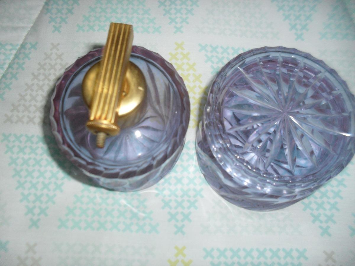 Delicada Algodonera Y Perfumero En Cristal De Murano 100 000  # Muebles Murano Envigado
