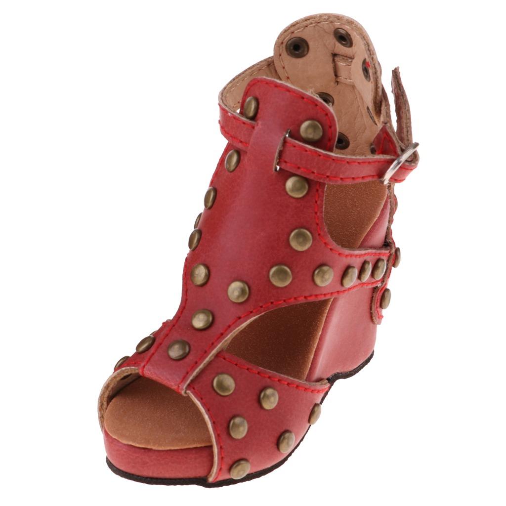 finest selection b3e43 5f8eb Delicadas 1/3 Bjd Zapatos Con Remaches Para Muñeca Sandali