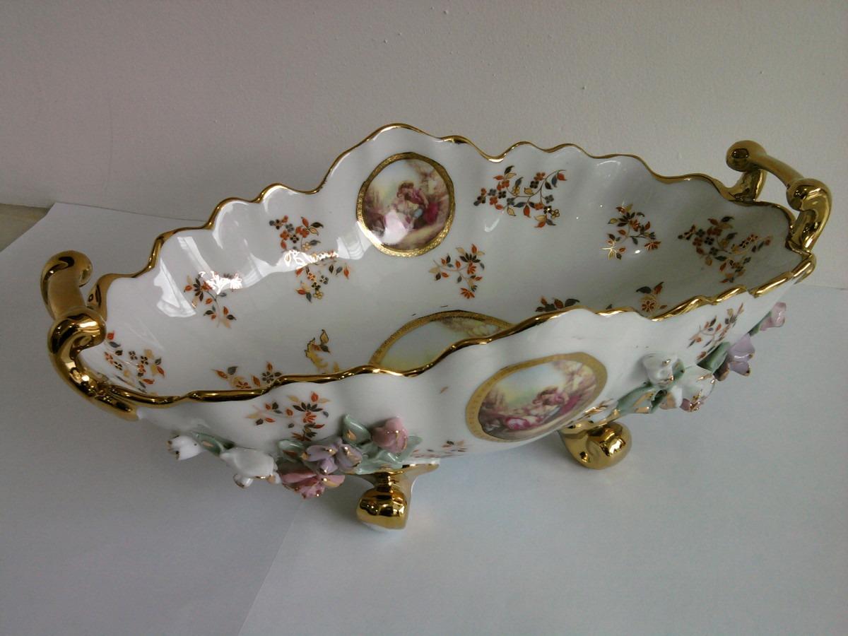 Delicado centro de mesa em porcelana r 395 00 em for Marcas de vajillas de porcelana
